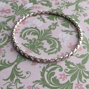 🌸3for$15 Silver Twist Bangle Bracelet
